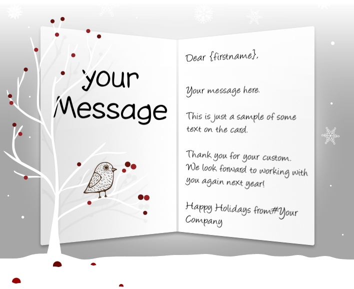 Holiday ecards for business corporate custom personalised bird in tree eu static christmas flashek Gallery