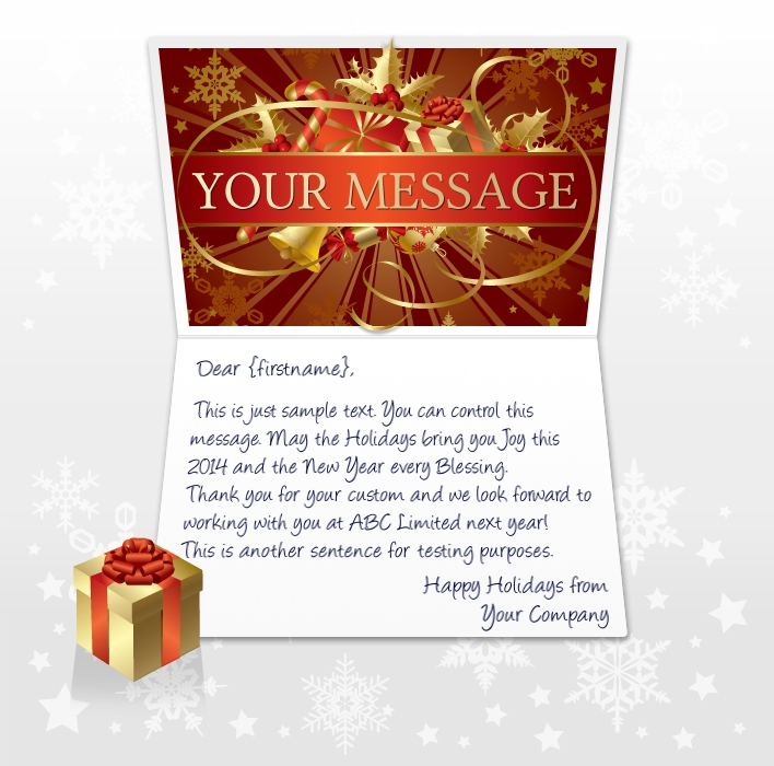 Static Christmas eCards for Business: Red Banner EU