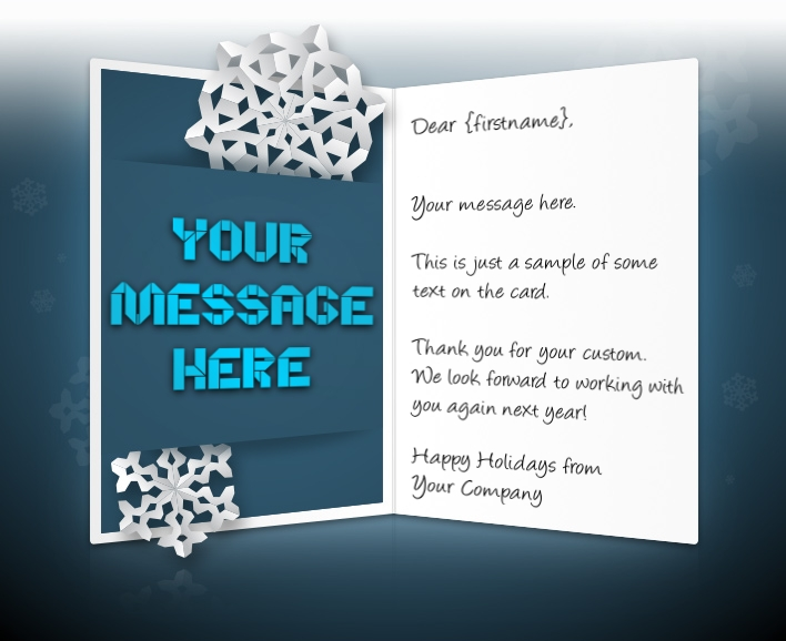 holiday ecards for business corporate custom