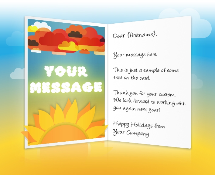 Holiday ecards for business corporate custom personalised sun and clouds eu static christmas m4hsunfo