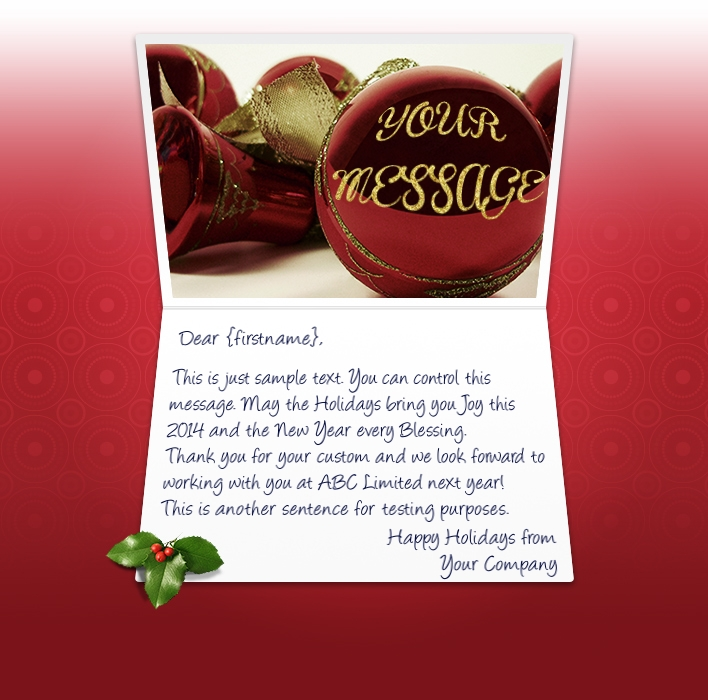 Christmas Message To Employees.Christmas Ecards For Business Electronic Xmas Holiday Cards