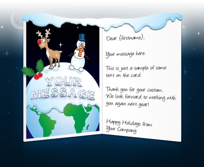 Static Christmas eCards for Business: Reindeer and Snowman
