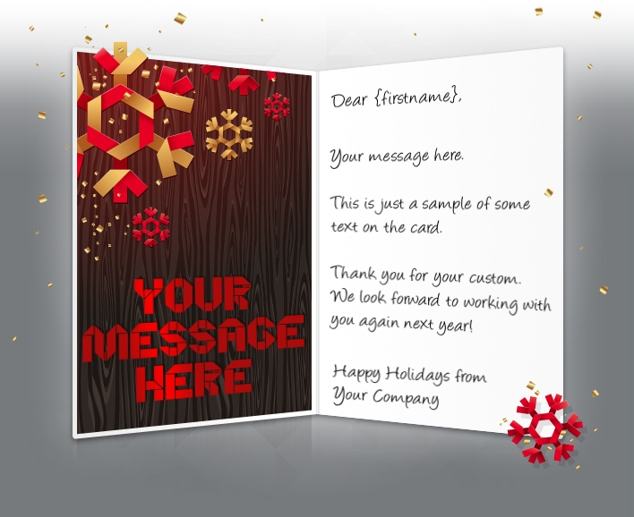 snowflakes and wood - Corporate Greeting Cards