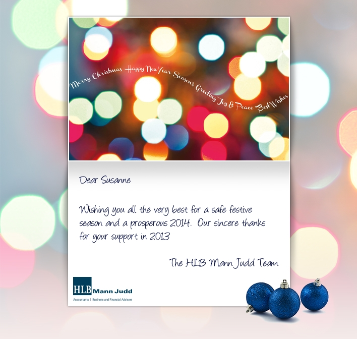 Holiday eCards Gallery Custom eCards for Business: HLB Christmas