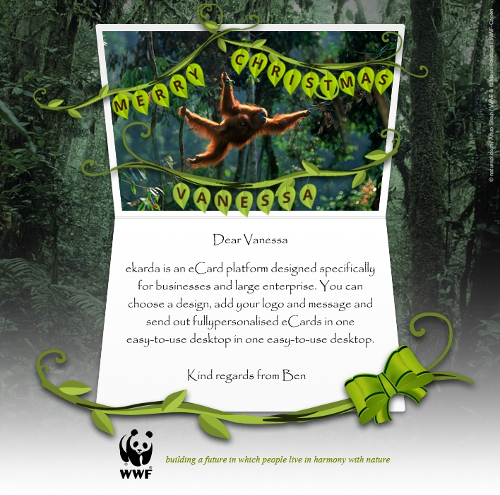 Holiday eCards Gallery Custom eCards for Business: WWF Christmas