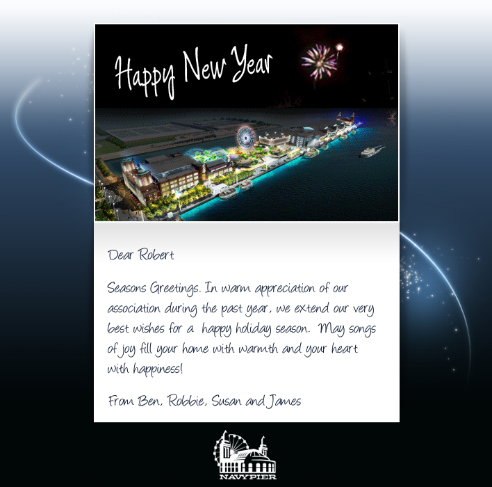 New Year eCards for Business: Navy Pier NY