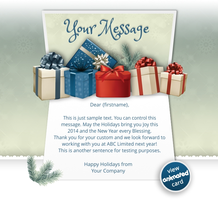 Animated Webpage eCards for Business: Animated Presents
