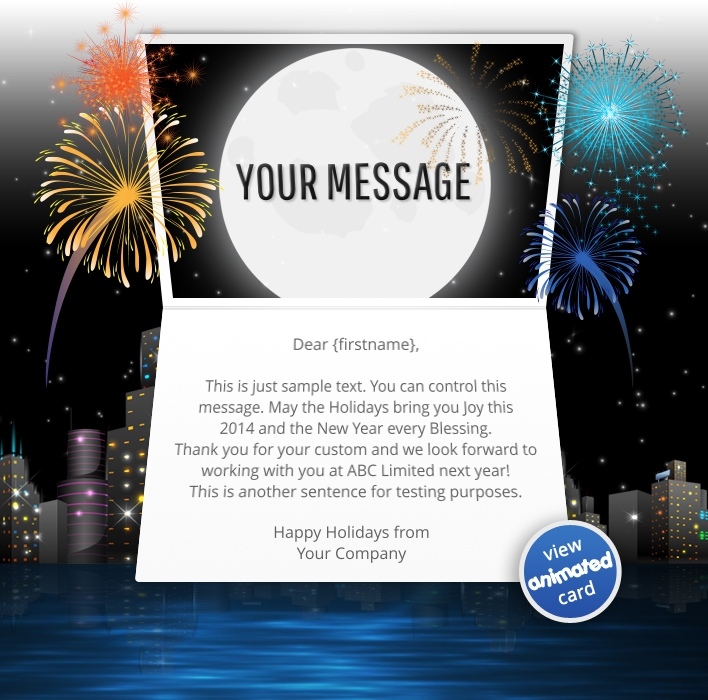 Interactive Christmas HTML5 eCard eCards for Business: Animated City