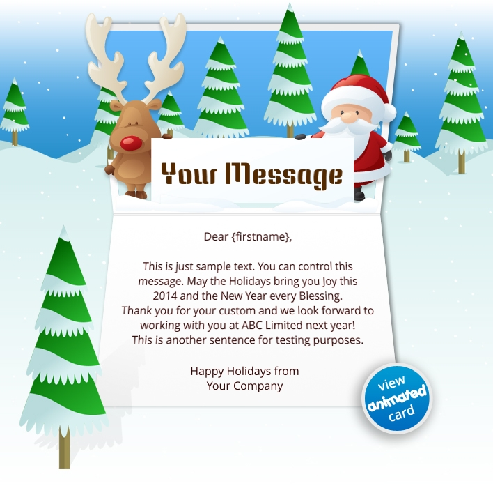 Animated Webpage eCards for Business: Animated Reindeer
