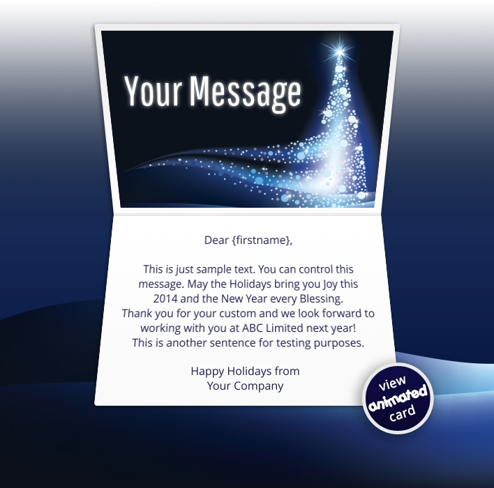 Interactive Christmas HTML5 eCard eCards for Business: Animated Starlight