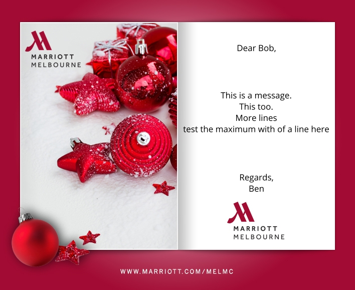 Custom Holiday eCard eCards for Business: Marriott Xmas