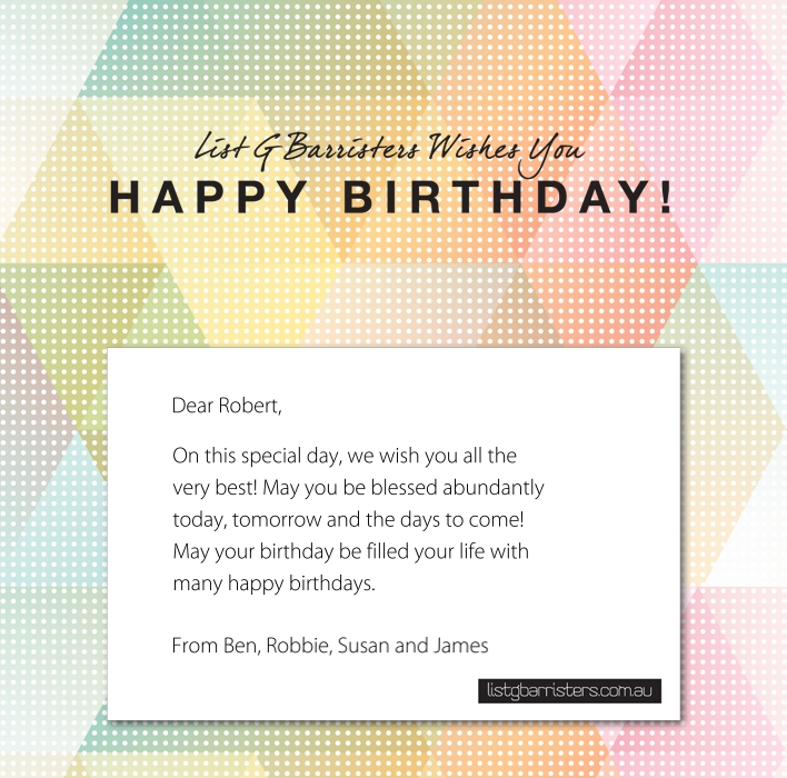 Custom Corporate Birthday eCards eCards for Business: ListG Birthday New