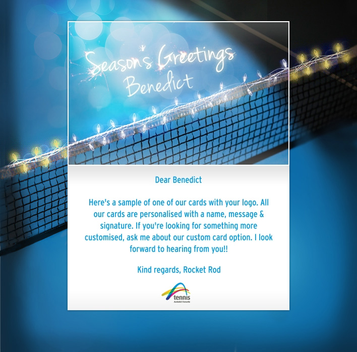 Holiday eCards Gallery Custom eCards for Business: Tennis Australia
